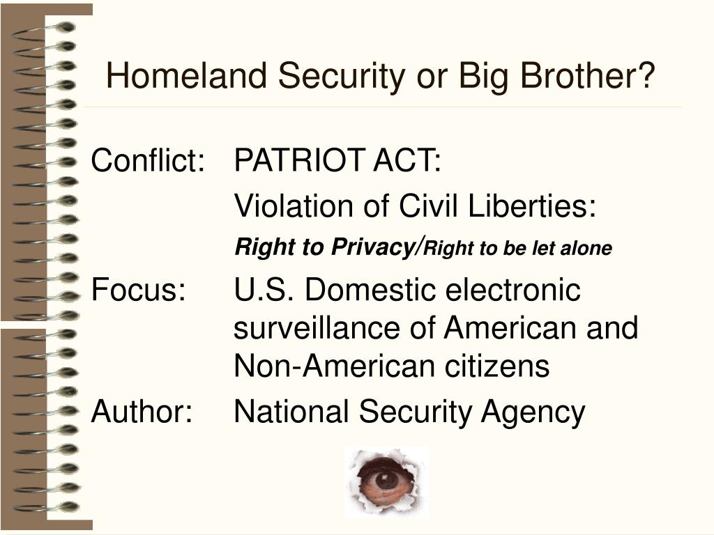 Homeland Security or Big Brother?