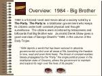 overview 1984 big brother