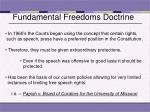 fundamental freedoms doctrine
