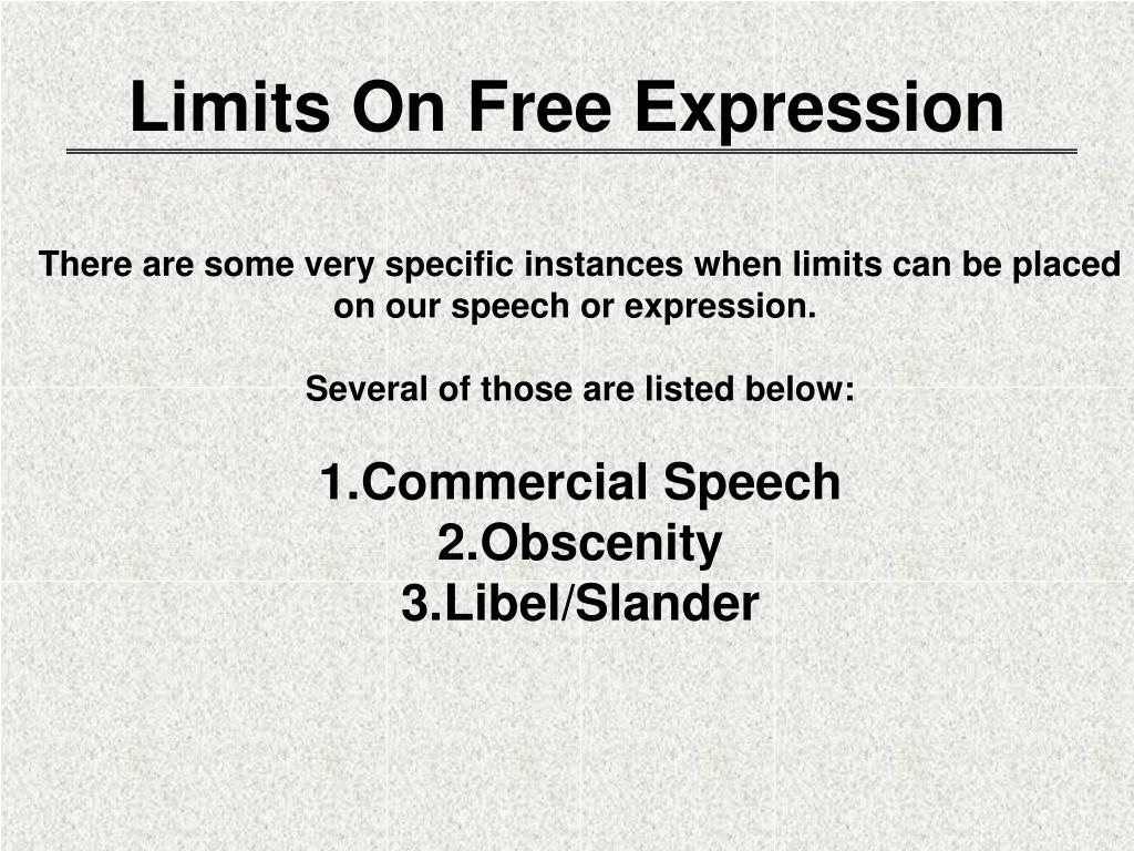Limits On Free Expression