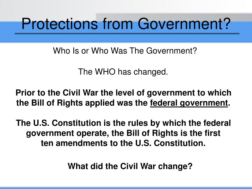 Protections from Government?