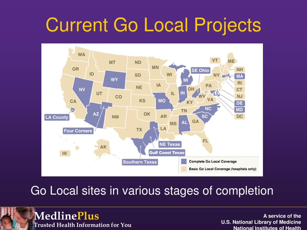 Go Local sites in various stages of completion