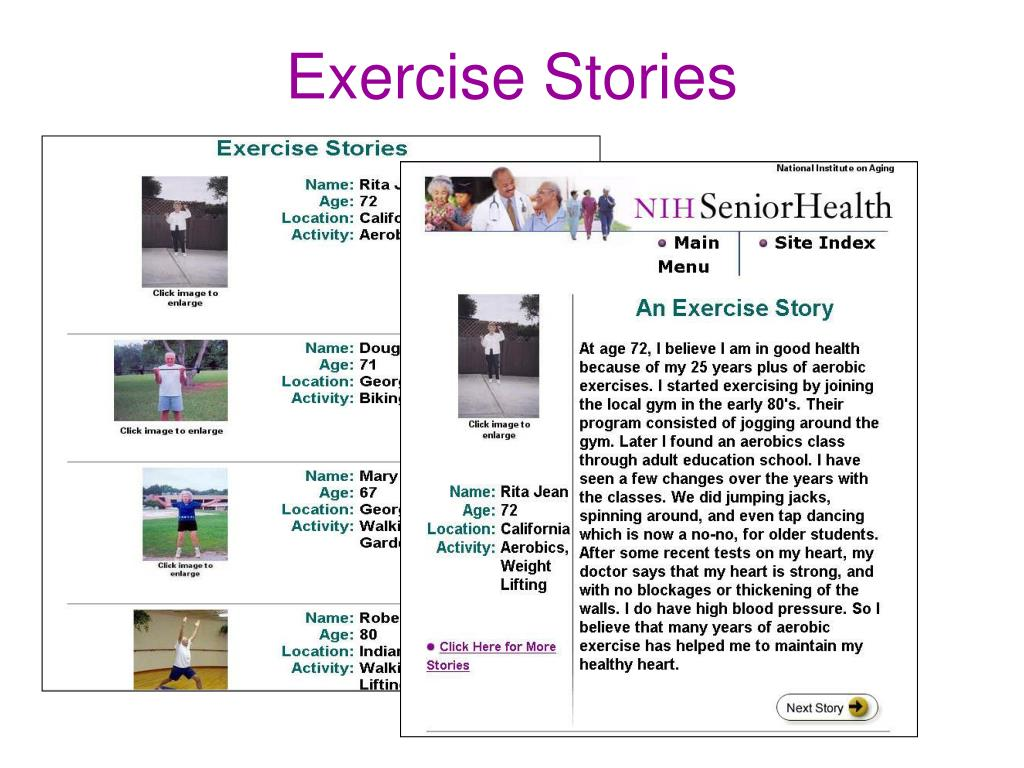 Exercise Stories