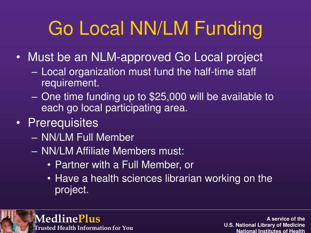 Go Local NN/LM Funding