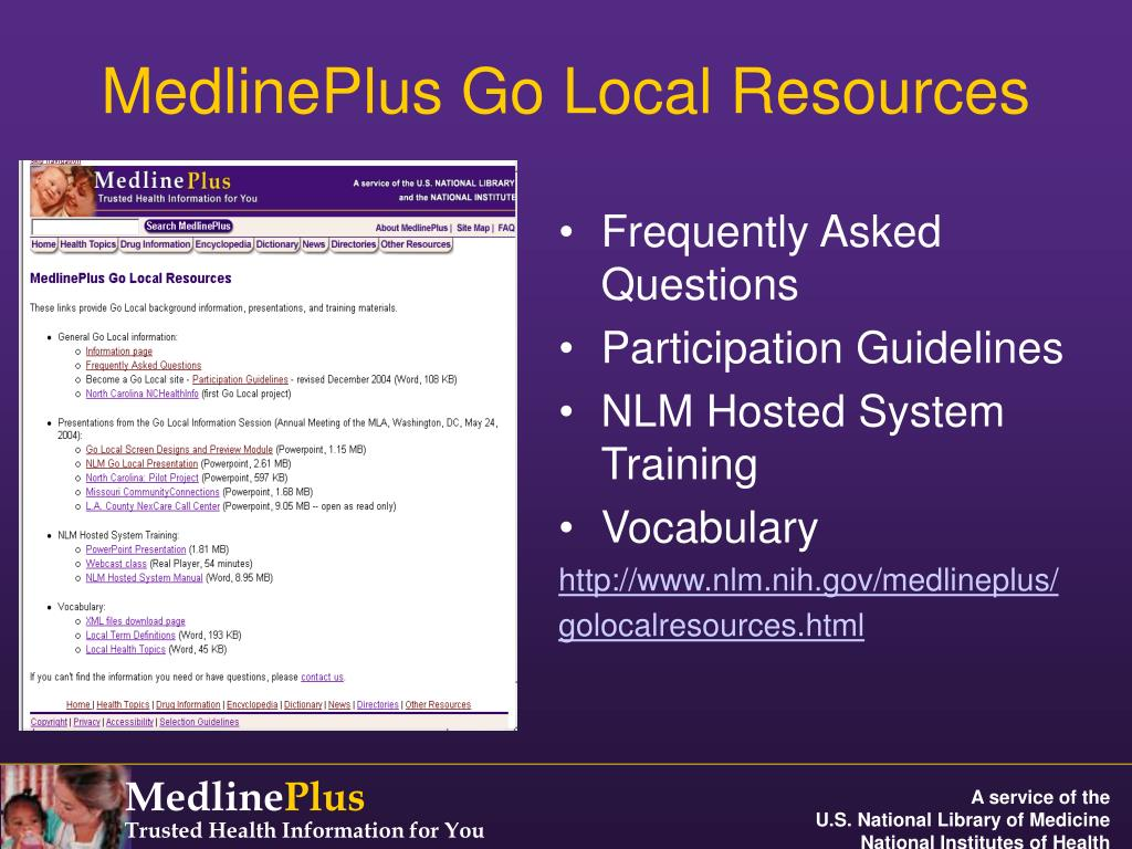 MedlinePlus Go Local Resources