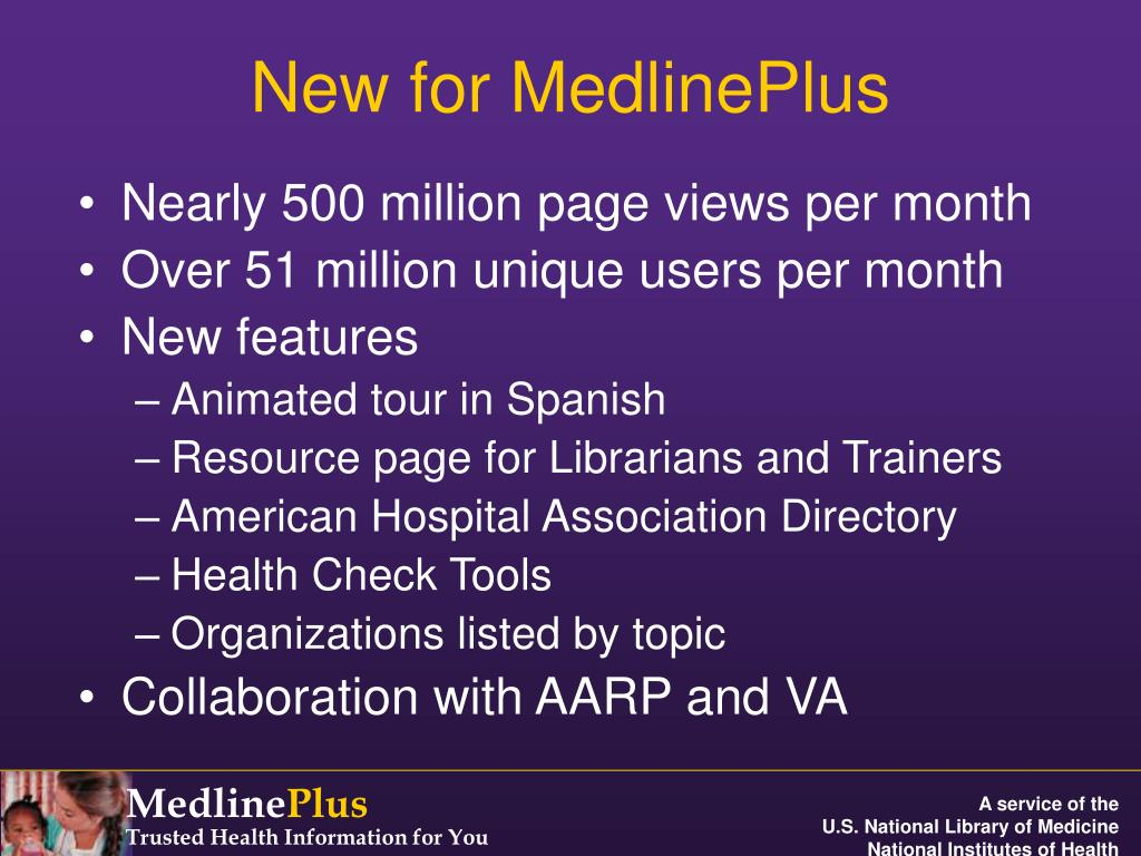 New for MedlinePlus