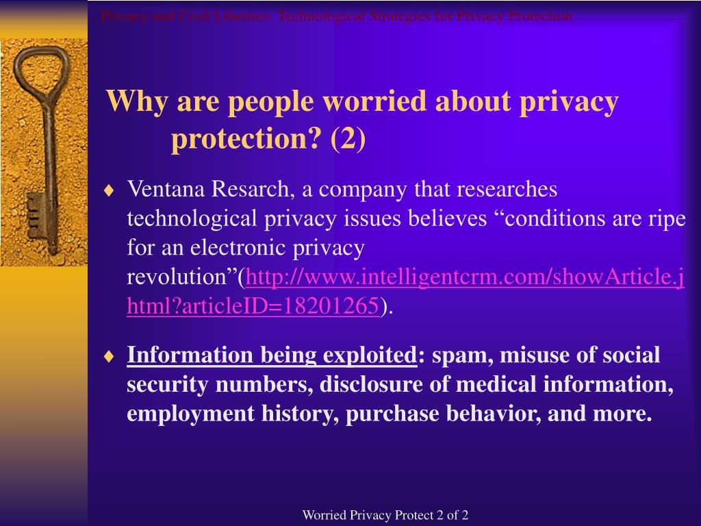 Privacy and Civil Liberties: Technological Strategies for Privacy Protection