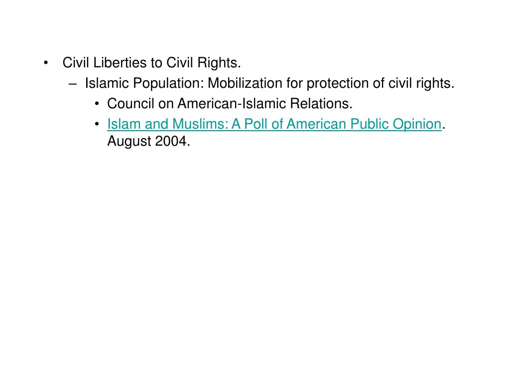 Civil Liberties to Civil Rights.