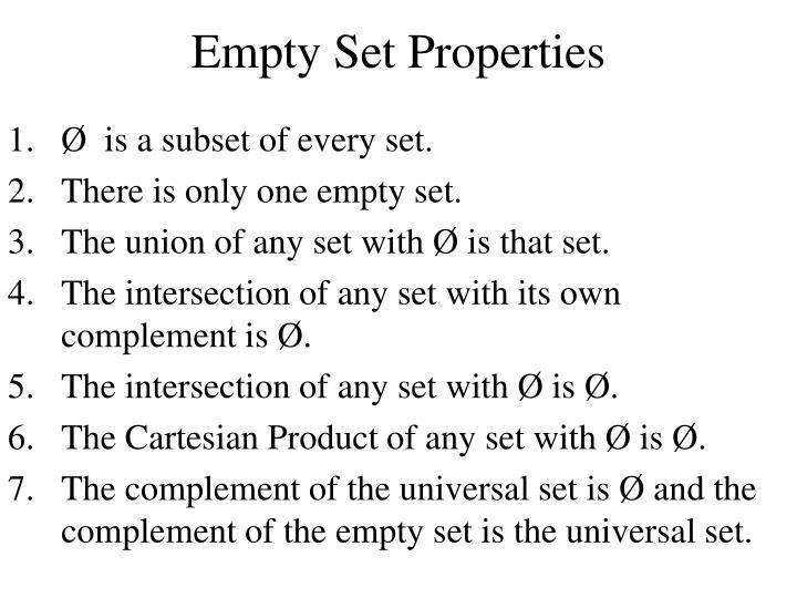 Empty Set Properties