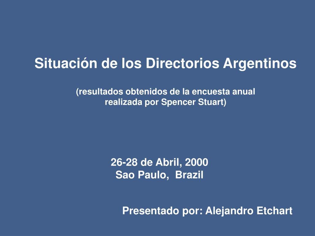 Situación de los Directorios Argentinos