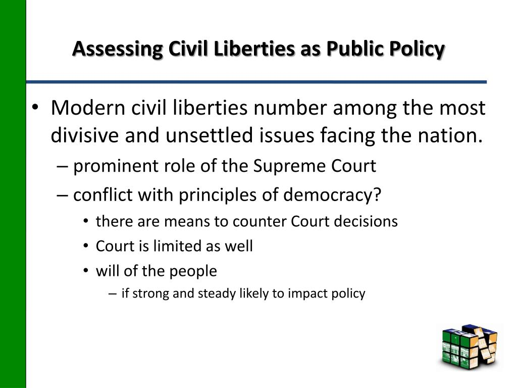 Assessing Civil Liberties as Public Policy