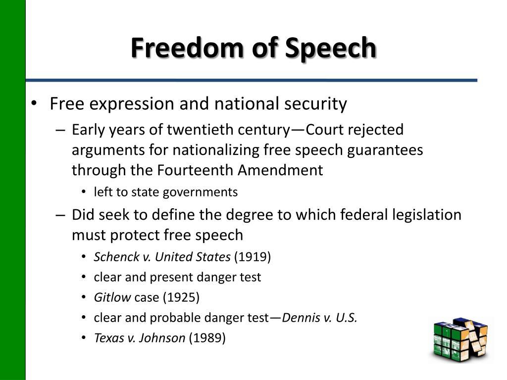Freedom of Speech