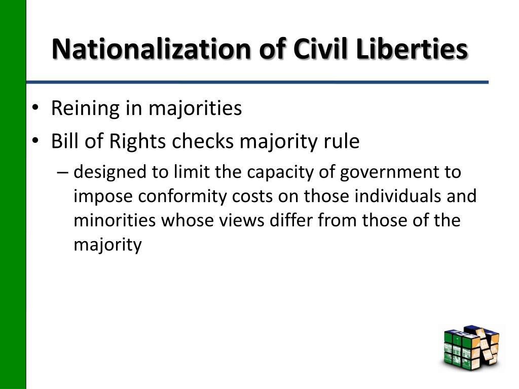 Nationalization of Civil Liberties