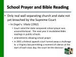 school prayer and bible reading