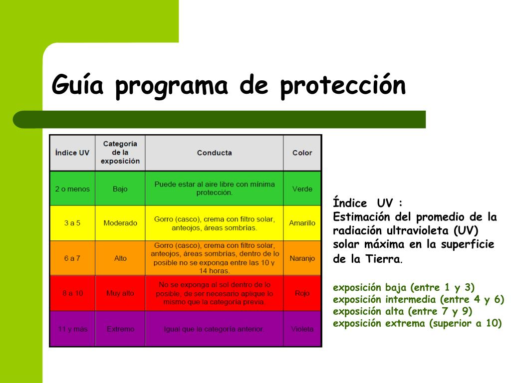 Guía programa de protección