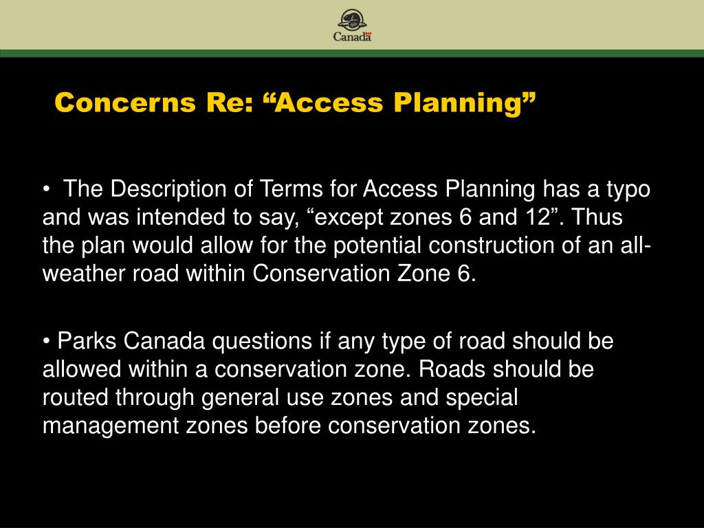 "Concerns Re: ""Access Planning"""