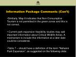 information package comments con t11