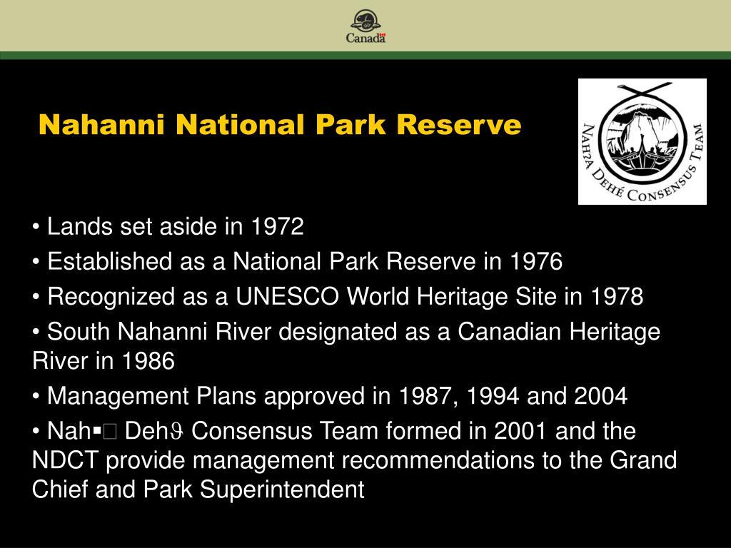 Nahanni National Park Reserve