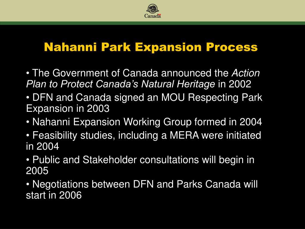 Nahanni Park Expansion Process
