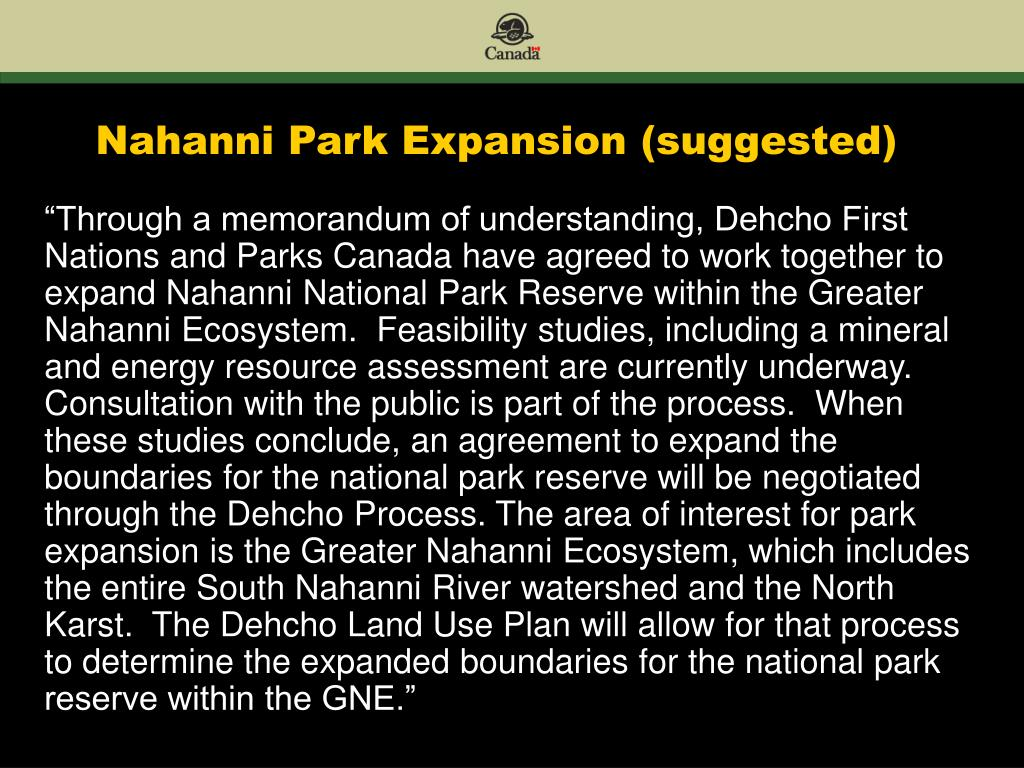 Nahanni Park Expansion (suggested)
