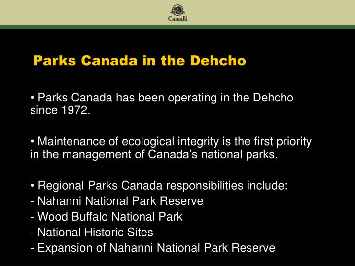 Parks canada in the dehcho2