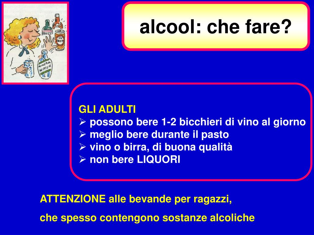 alcool: che fare?
