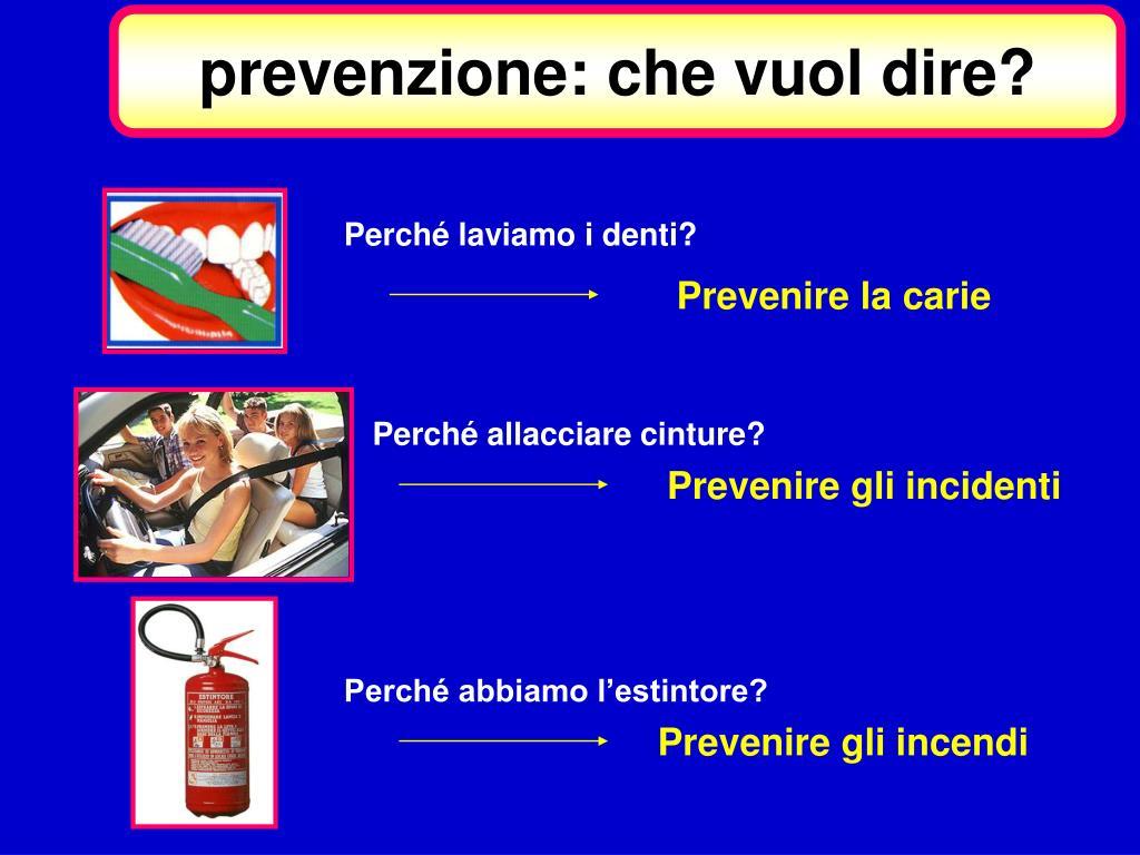 prevenzione: che vuol dire?