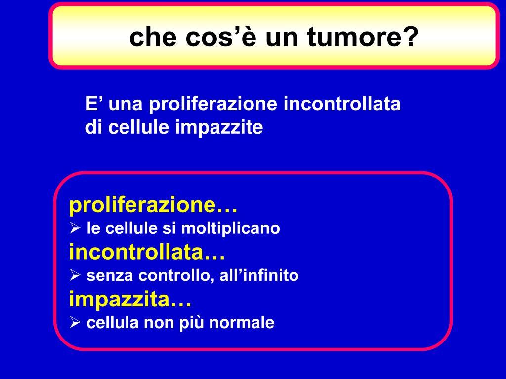 che cos'è un tumore?