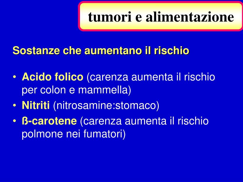 tumori e alimentazione