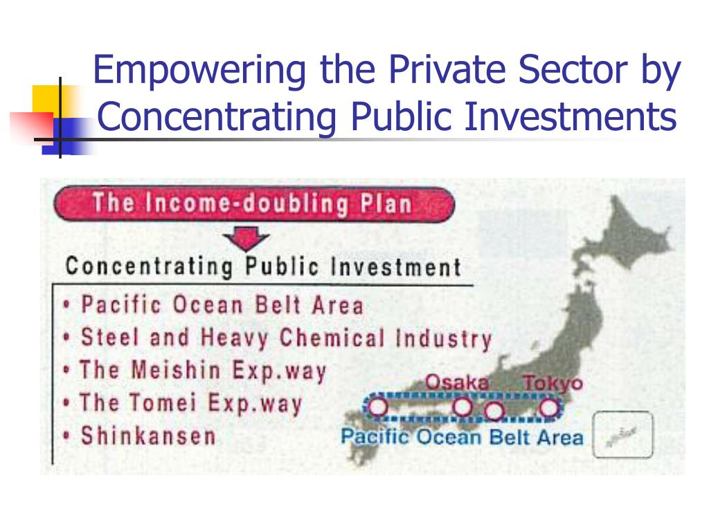 Empowering the Private Sector by Concentrating Public Investments