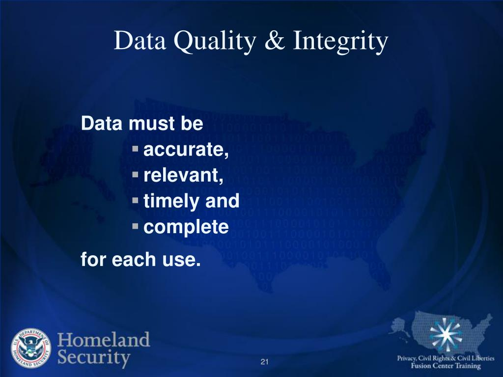 Data Quality & Integrity