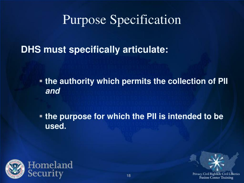 Purpose Specification