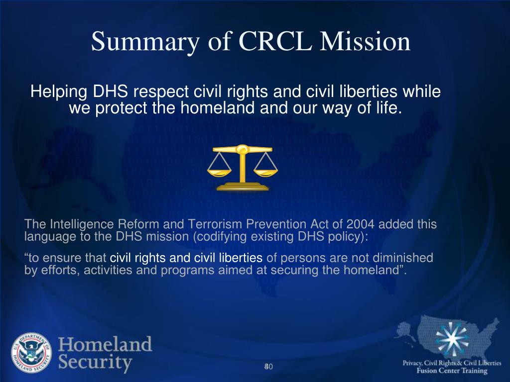 Summary of CRCL Mission
