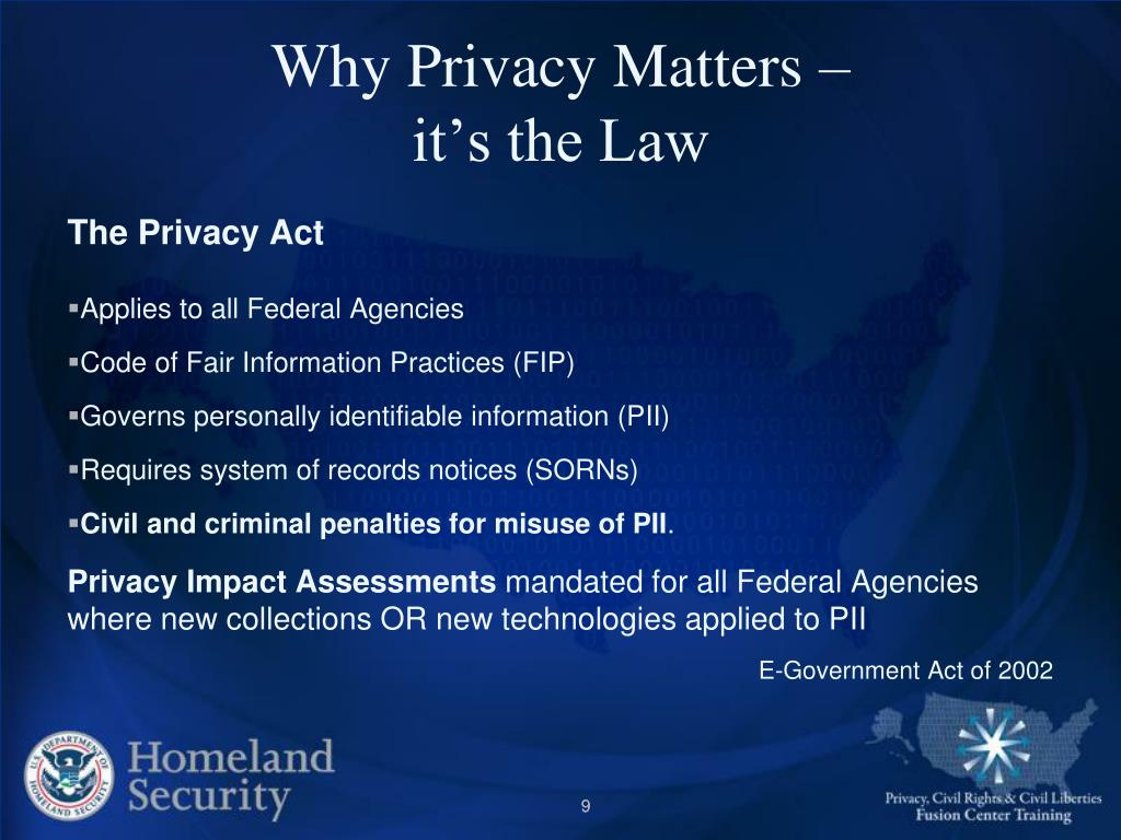Why Privacy Matters –