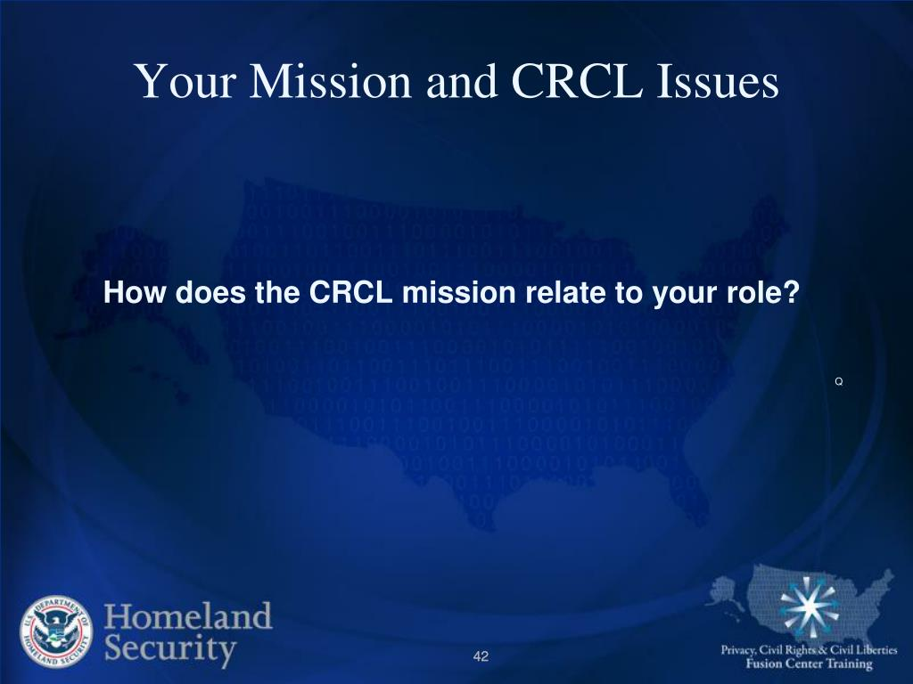 Your Mission and CRCL Issues