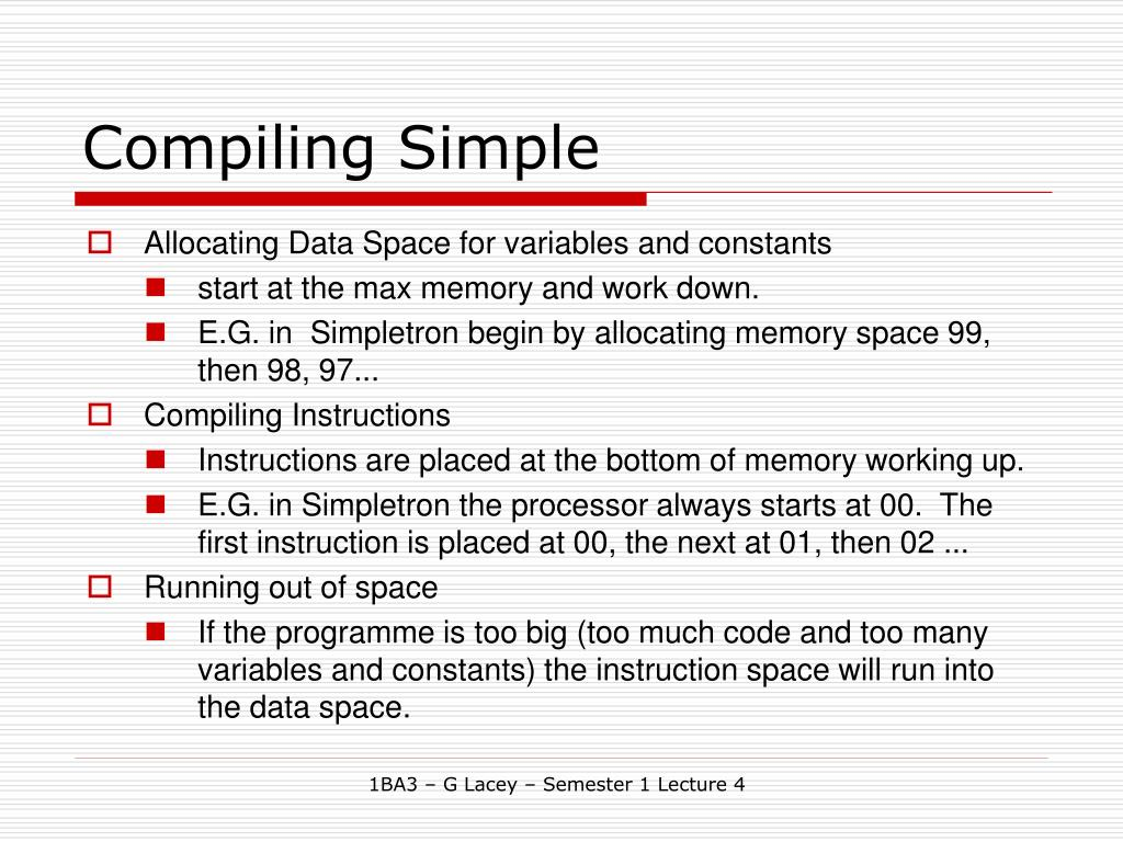 Compiling Simple