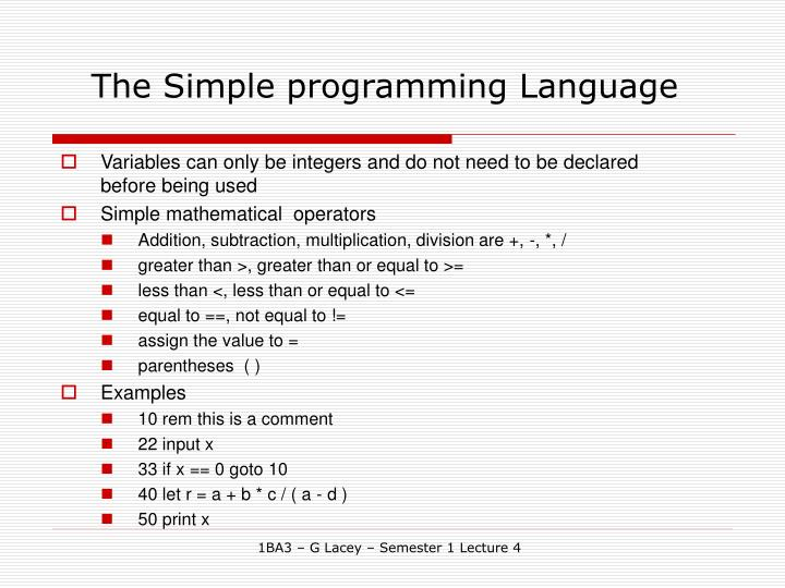 The simple programming language3