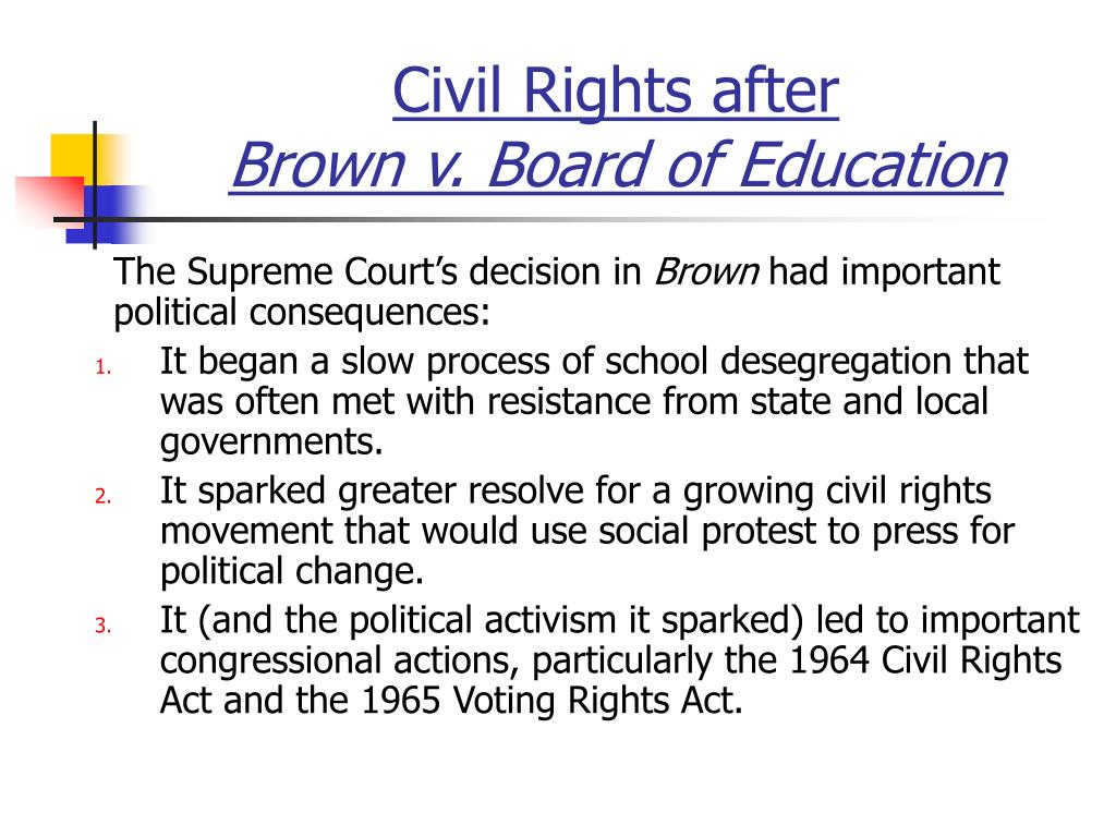 Civil Rights after
