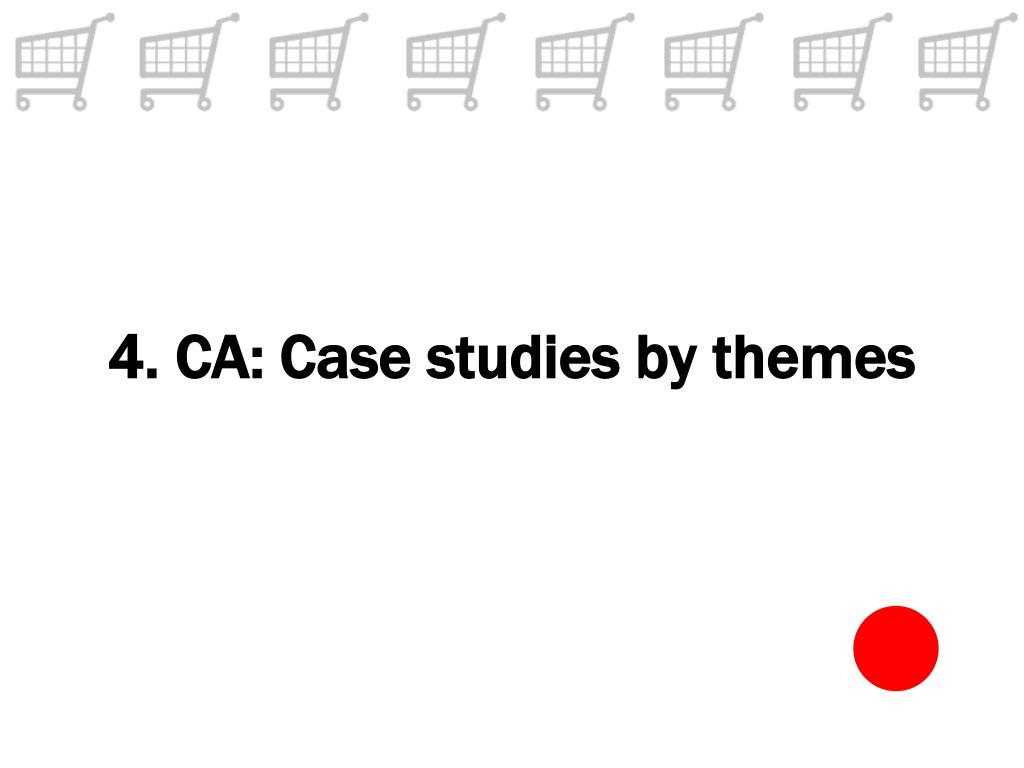 4. CA: Case studies by themes