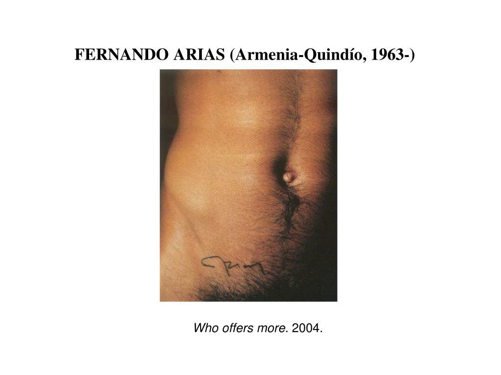 FERNANDO ARIAS (Armenia-Quindío, 1963-)