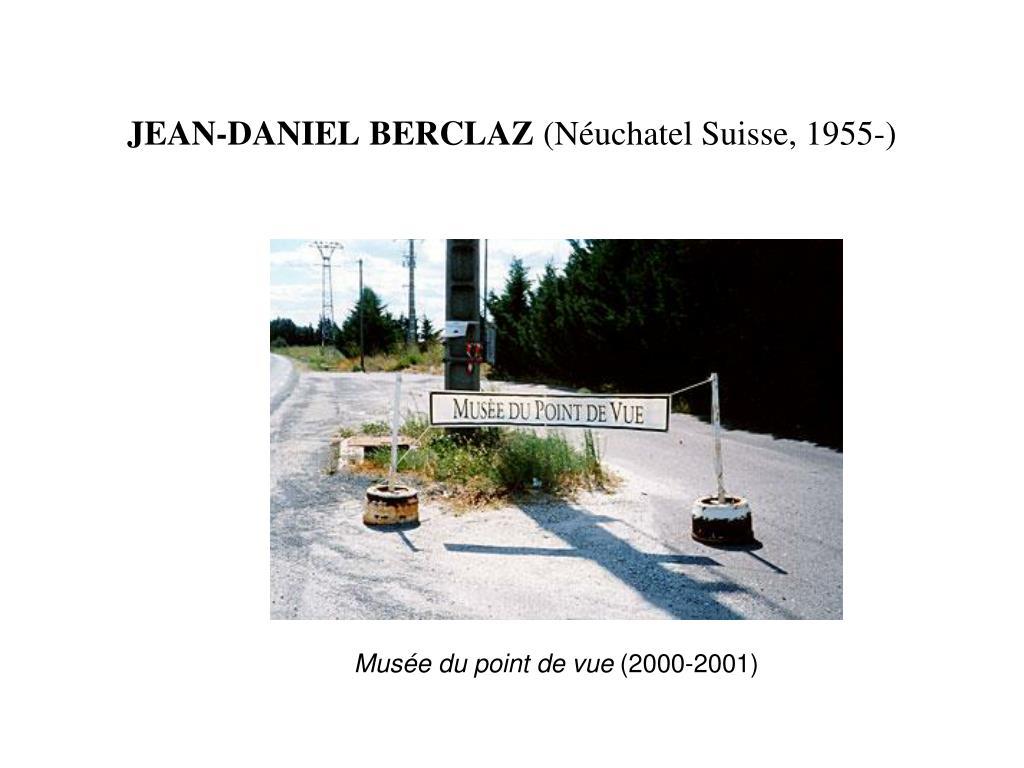 JEAN-DANIEL BERCLAZ