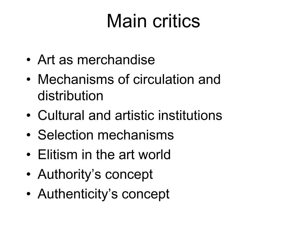 Main critics
