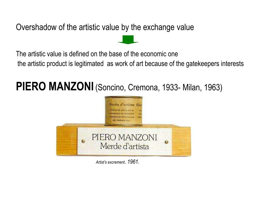 Overshadow of the artistic value by the exchange value