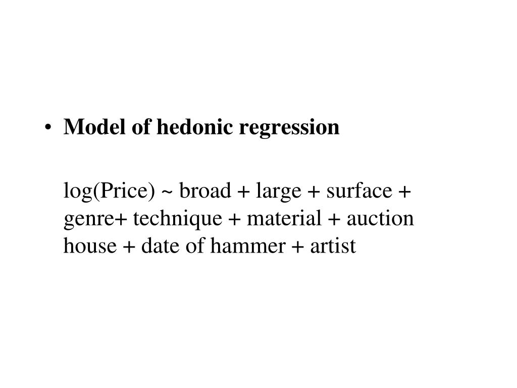 Model of hedonic regression