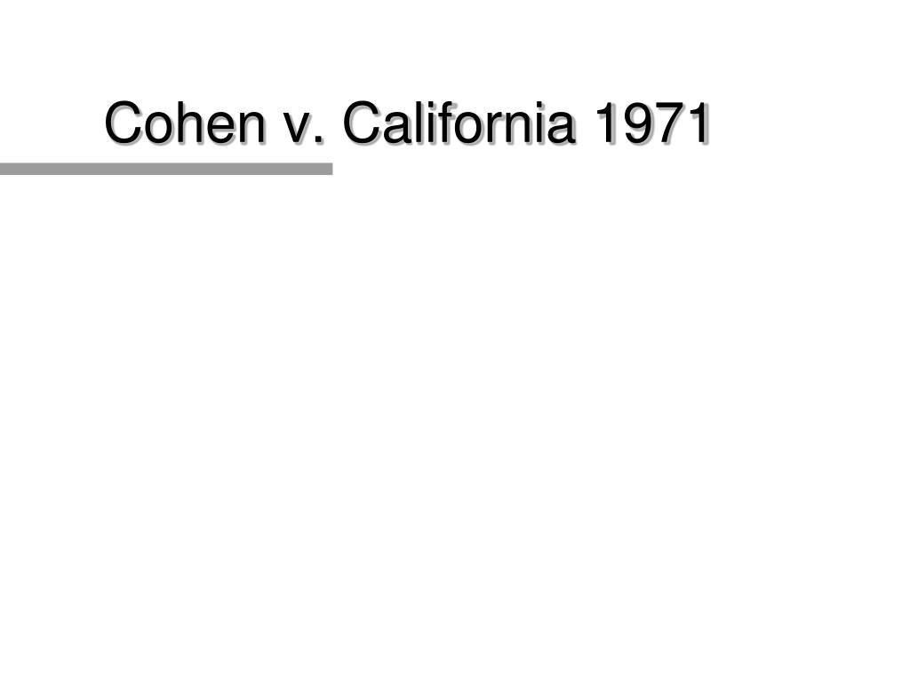 Cohen v. California 1971