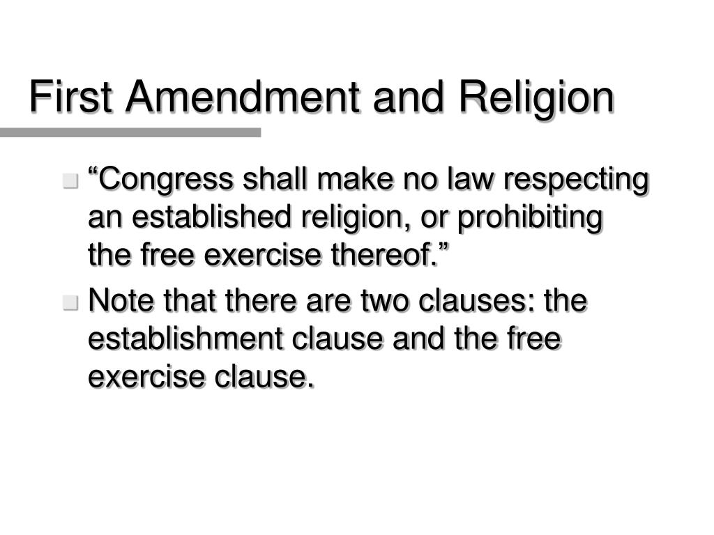 First Amendment and Religion