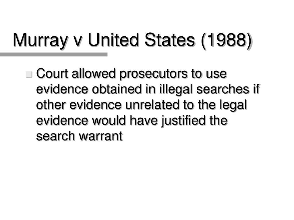 Murray v United States (1988)