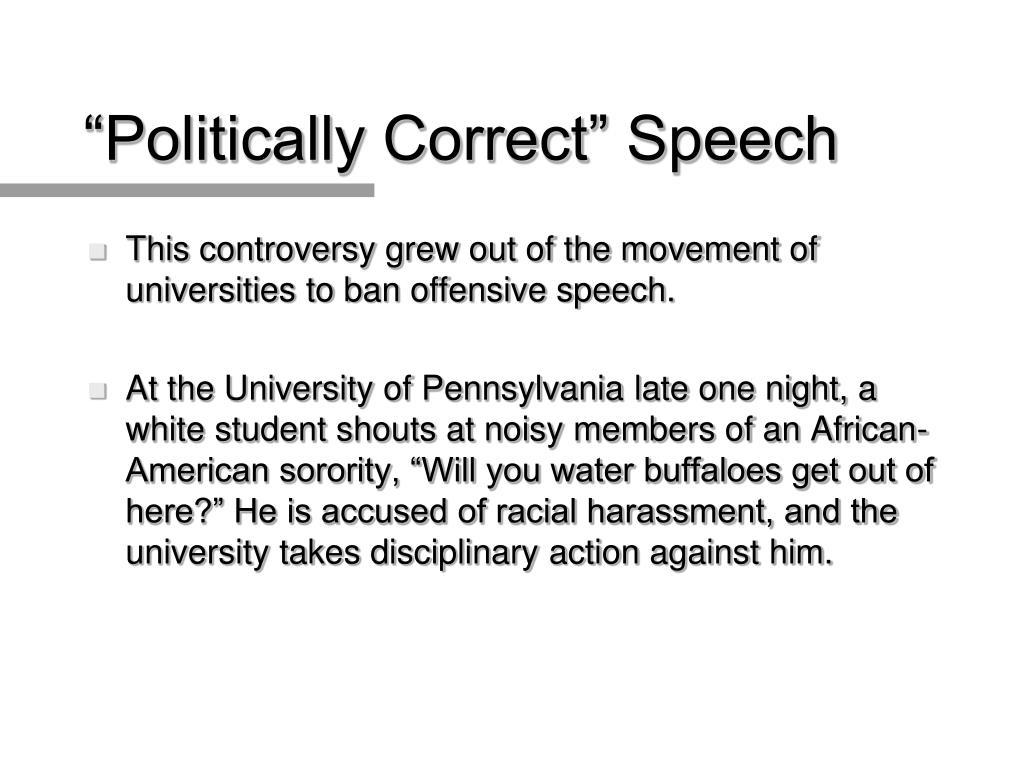 """""""Politically Correct"""" Speech"""