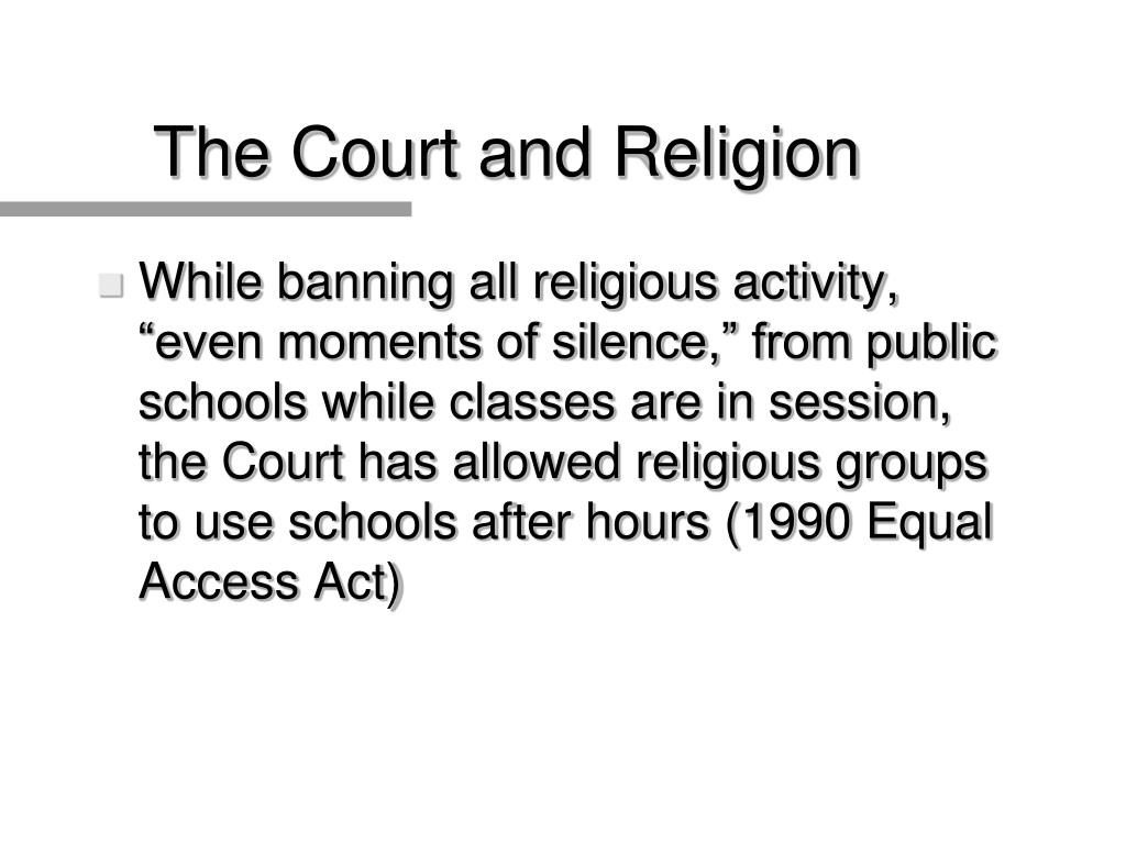 The Court and Religion