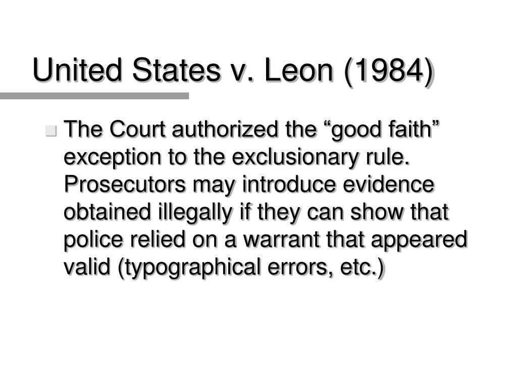 United States v. Leon (1984)